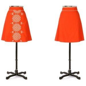 Lithe Gilded Dawn Skirt In Orange